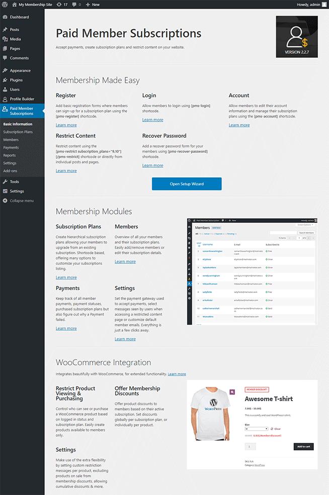 WordPress Membership Plugin - Paid Member Subscriptions