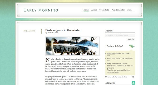 Early Morning - A refreshing child theme for Thematic