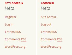 Wordpress user registration explained the default meta widget fandeluxe Image collections
