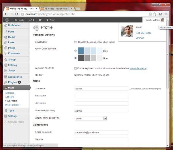 Edit Your Profile in WordPress