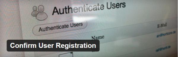 Confirm User Registration plugin