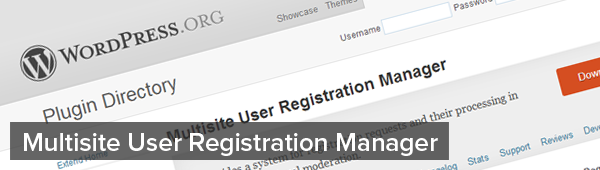 Multisite-User-Registration-Manager