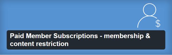 Paid Member Subscriptions plugin