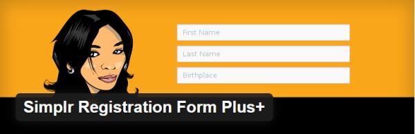 Simplr Registration Form Plus+ plugin