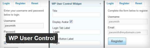 WP User Control plugin