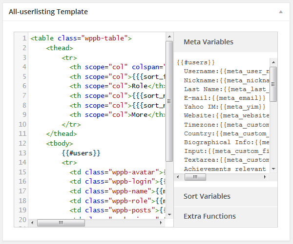 all-userlisting-template