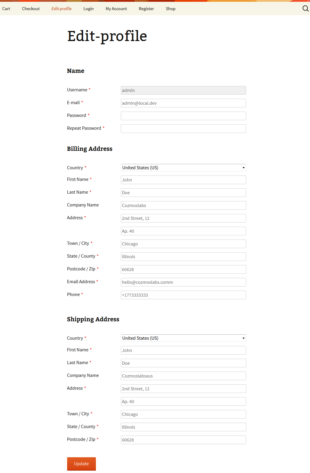 Customize WooCommerce My account page