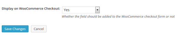Choose which fields to display on the Checkout page