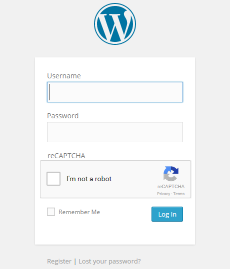 reCAPTCHA enabled on default WordPress Login form