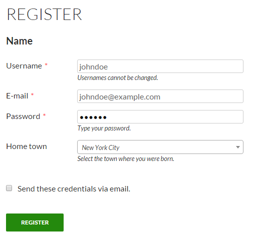 Register form1