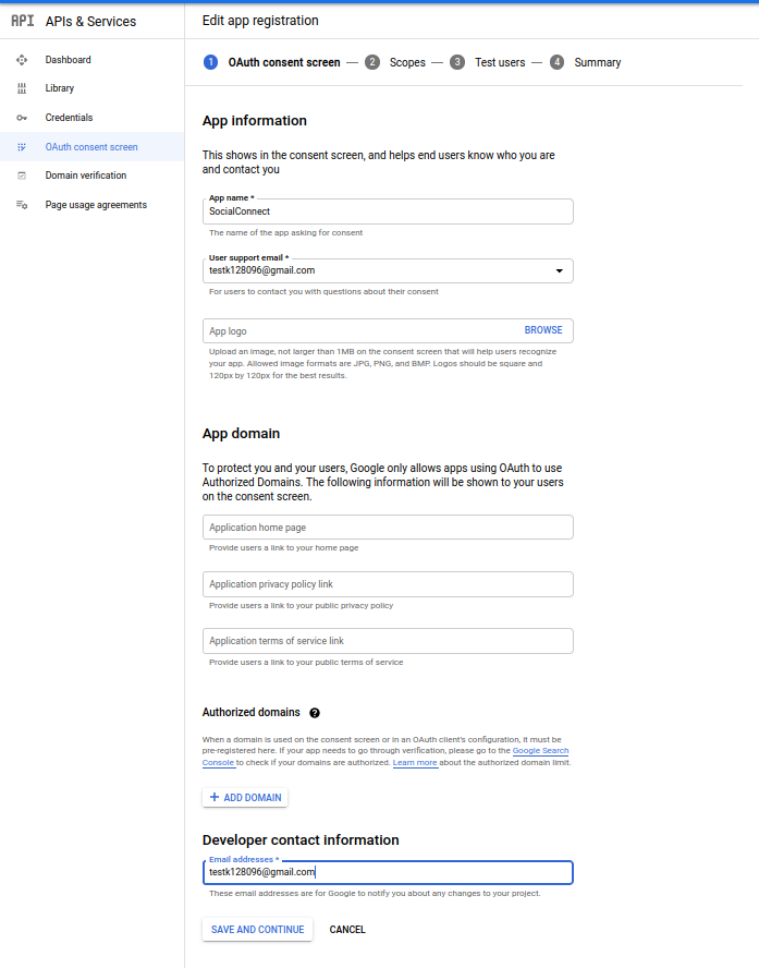 Profile Builder Pro - Social Connect - Google Developers Console - Create an OAuth_consent_screen_1.0