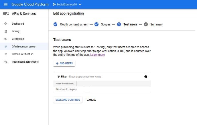 Profile Builder Pro - Social Connect - Google Developers Console - Create an OAuth_consent_screen_3.0