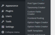 15. WordPress Creation Kit - Backend Dashboard