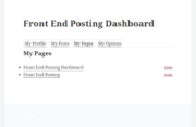 7. WordPress Creation Kit - Front End Posting Dashboard