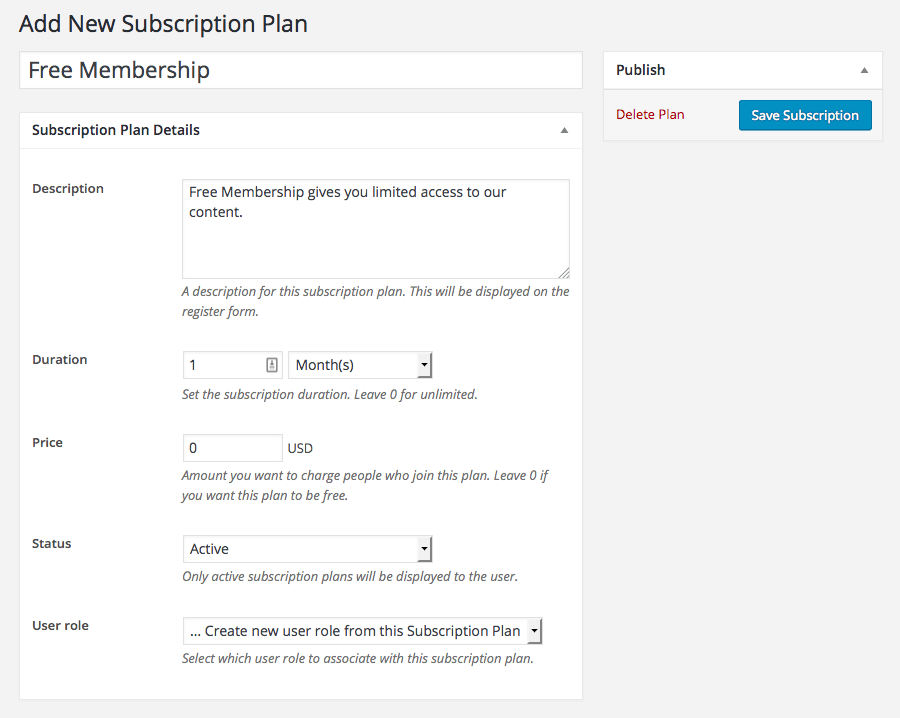 pms-setup-add-subscription-plan-free