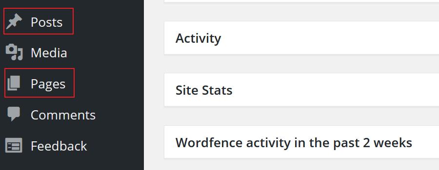 Default WordPress Custom Post Types