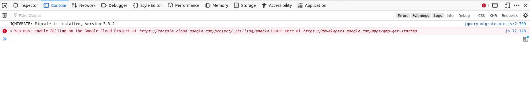 Profile Builder - Map Field - Map Error Console