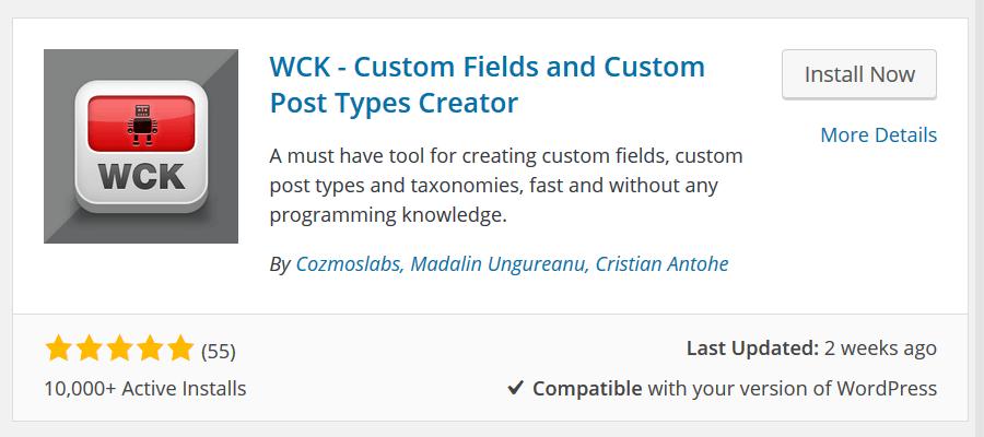 WCK - Installation
