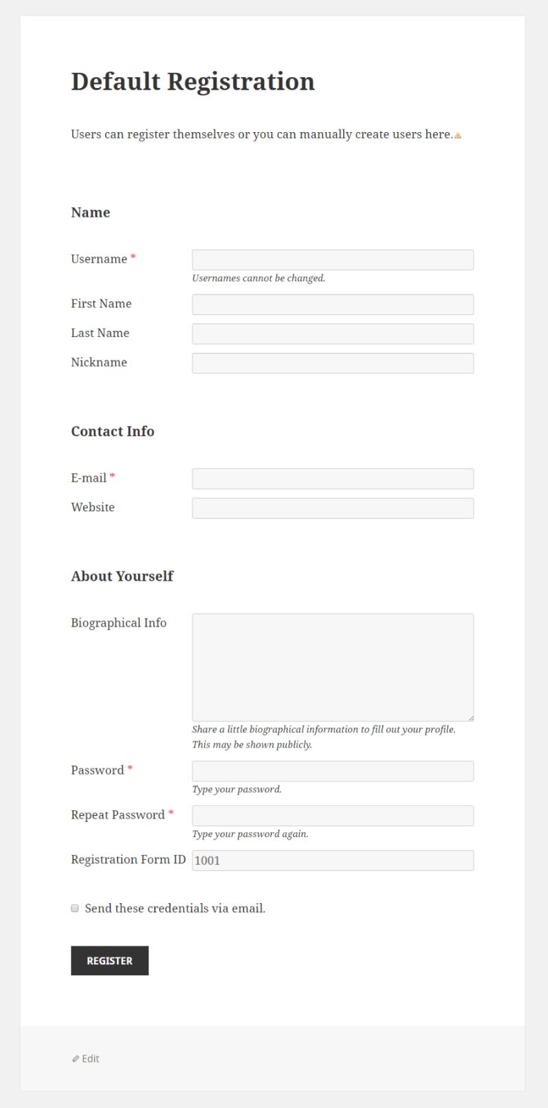 Profile Builder - Input (Hidden Field) Front-End (Admin)