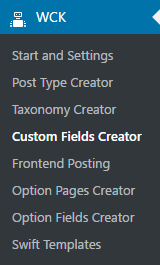 WordPress Creation Kit - Custom Fields Creator - Single Custom Meta Box