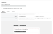 Profile Builder - MailChimp - Double Opt-In Template