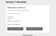 Profile Builder - MailChimp - Subscription Confirmed