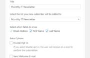 Profile Builder - MailChimp - Widget