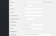 Profile Builder Pro - Field Visibility - Admin Only - Admin WordPress Edit Profile Form