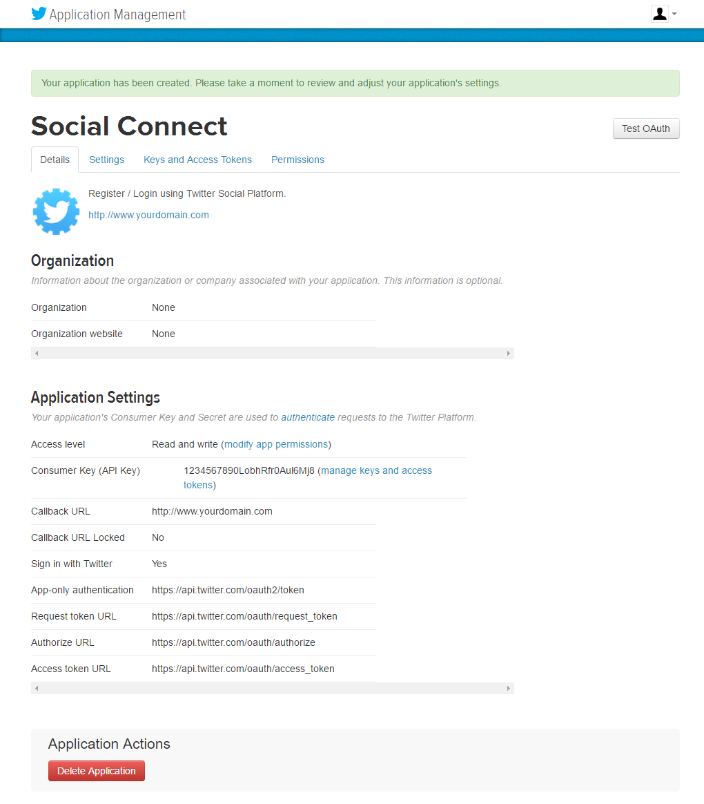 Profile Builder Pro - Social Connect - Twitter Apps - Details