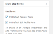 Profile Builder Pro - Multi-Step Forms - Enable on