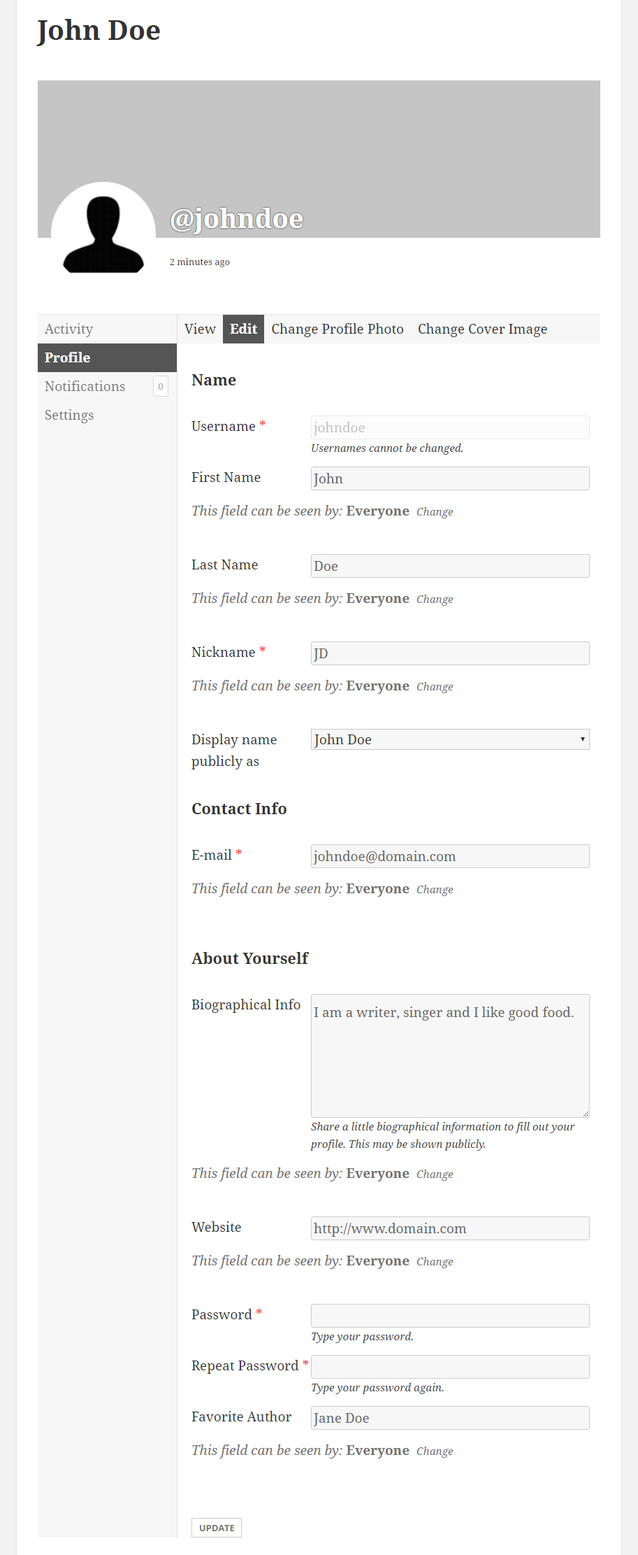 Profile Builder Pro - BuddyPress - BuddyPress Edit Profile Form replaced by Profile Builder Edit Profile Form