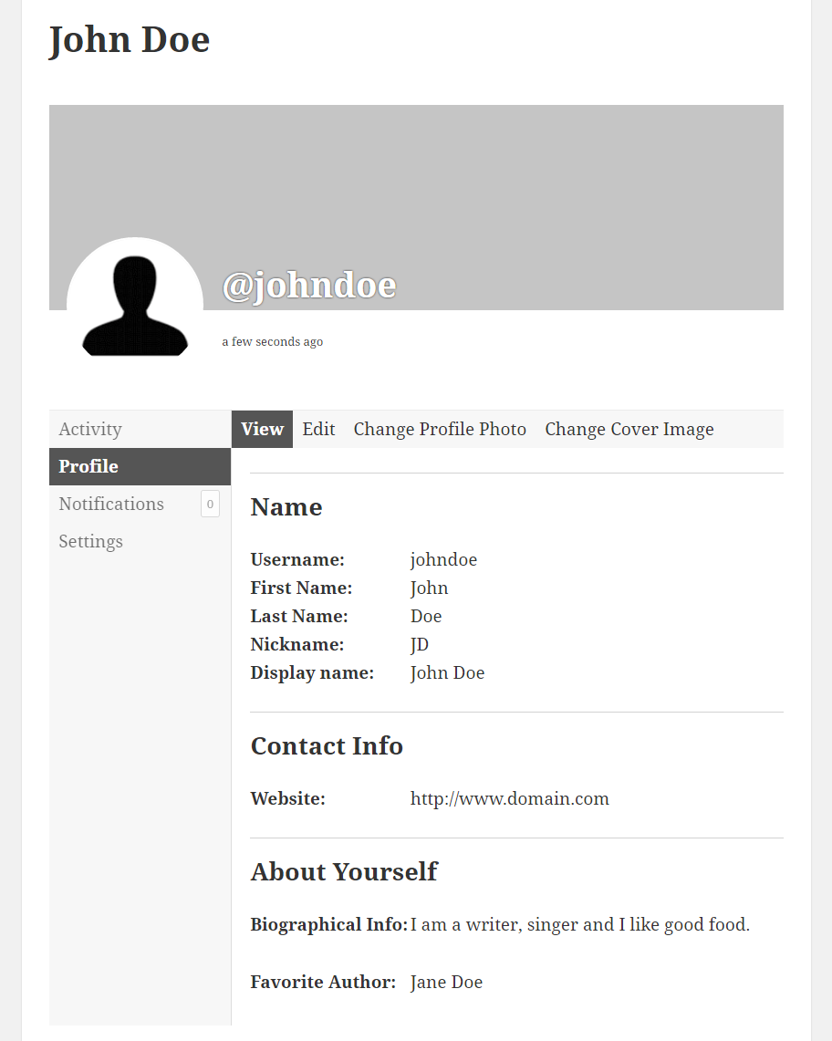 Profile Builder Pro - BuddyPress - BuddyPress Profile View section replaced by Profile Builder Single-Userlisting Template