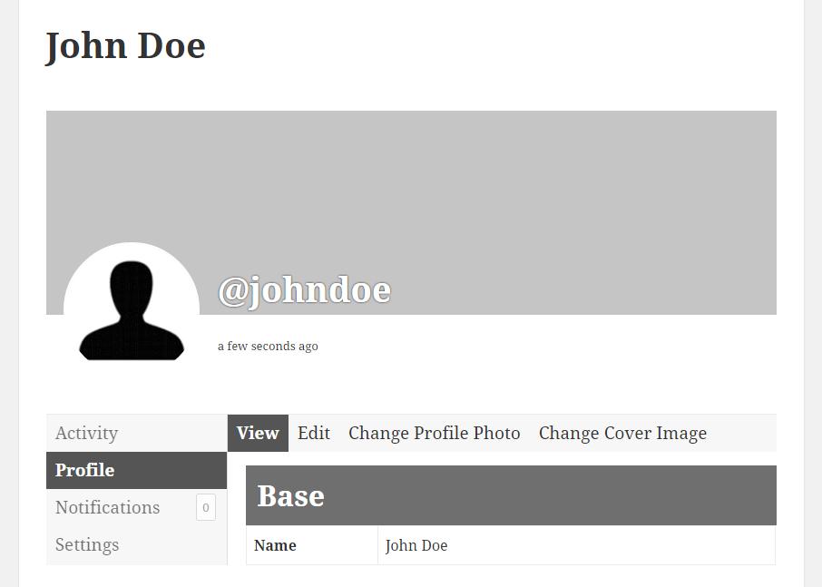 Profile Builder Pro - BuddyPress - Default BuddyPress Profile View
