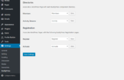 Profile Builder Pro - BuddyPress - Settings - Pages