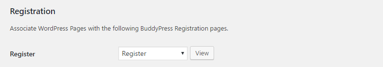 Profile Builder Pro - BuddyPress - Settings - Pages - Register