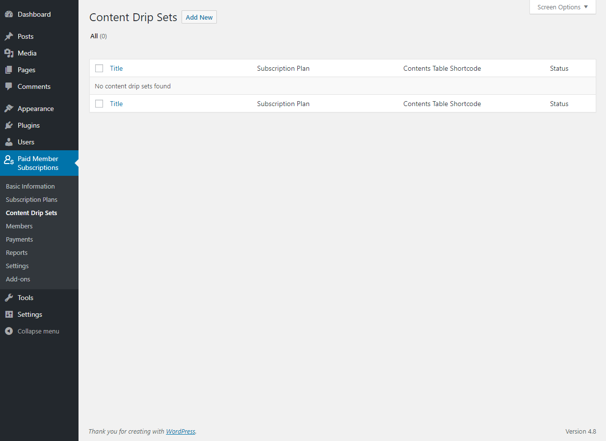 Paid Member Subscriptions Pro - Content Dripping - Add New