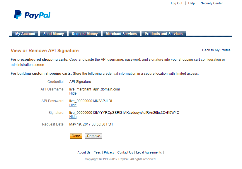 Paid Member Subscriptions Pro - PayPal Pro and PayPal Express Checkout - PayPal API Credentials - Live Mode