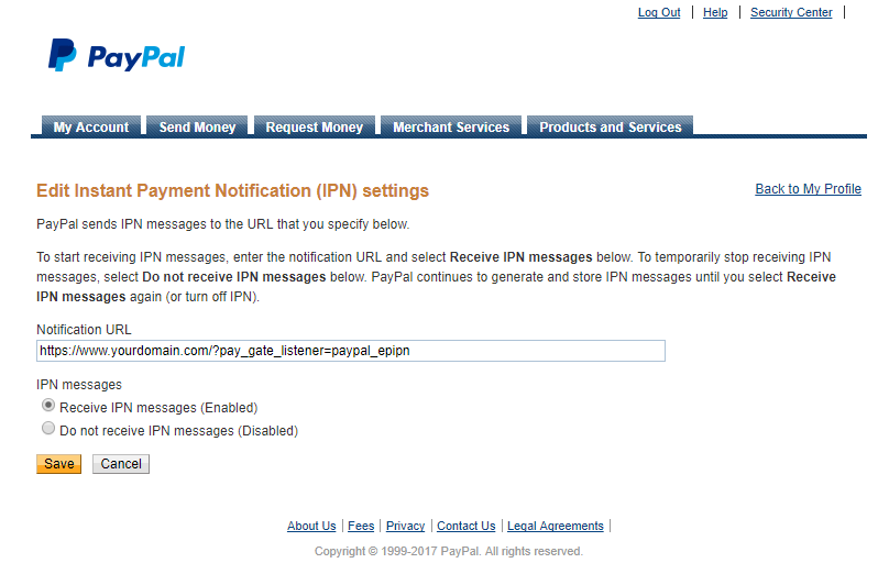 Paid Member Subscriptions Pro - PayPal Pro and PayPal Express Checkout - Setup Instant Payment Notification