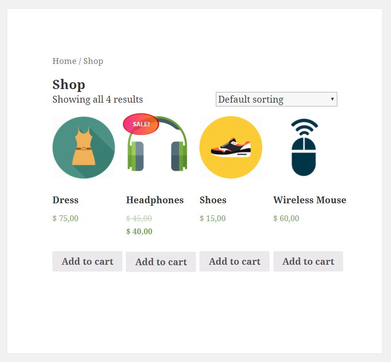 Paid Member Subscriptions - WooCommerce - Product on sale - Shop page