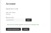 Paid Member Subscriptions Pro - Discount Codes - Using Discount Code when Upgrading