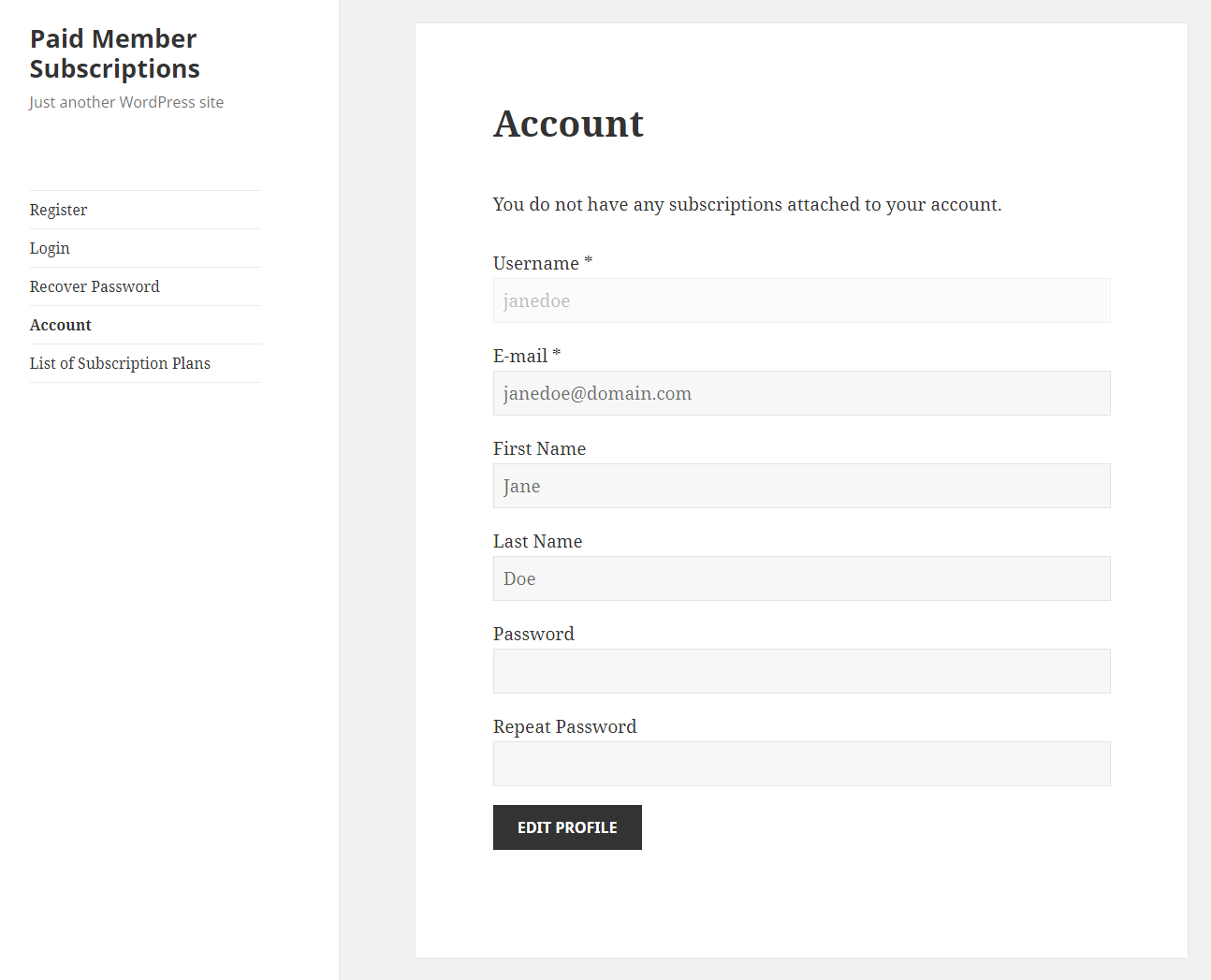 Paid Member Subscriptions Pro - Navigation Menu Filtering - Logged In Non Member