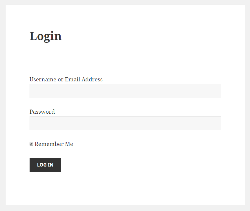 Paid Member Subscriptions - Shortcodes - Login Form in Front End