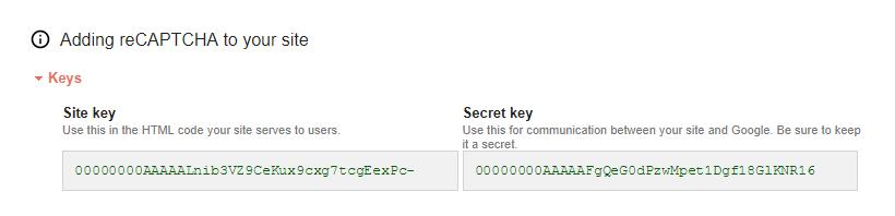 Paid Member Subscriptions - reCAPTCHA - Google reCAPTCHA Site Key Secret Key