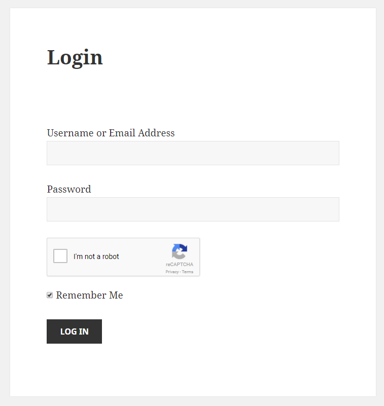 Paid Member Subscriptions - reCaptcha - Login Form