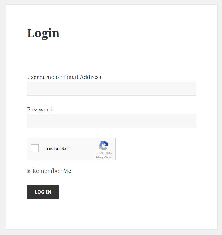 Paid Member Subscriptions - reCaptcha - Login Form