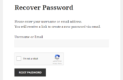 Paid Member Subscriptions - reCaptcha - Recover Password Form