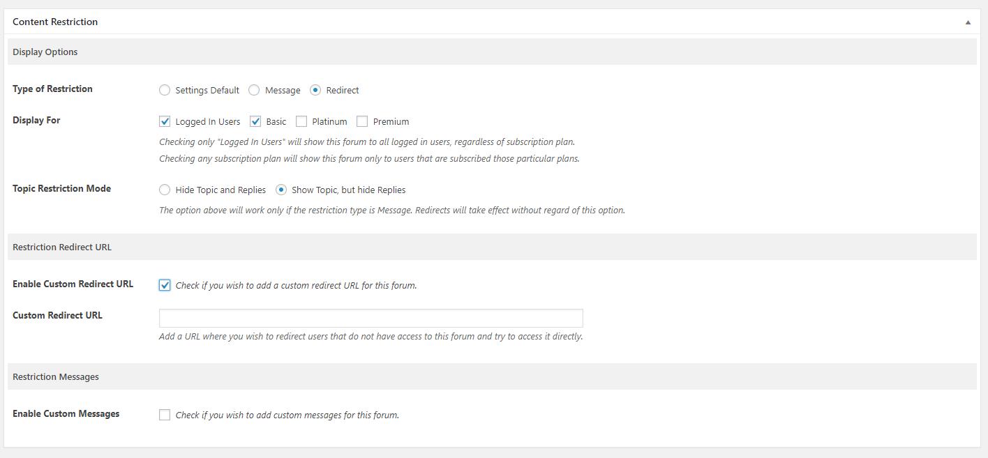 Enabling Custom Redirect URL