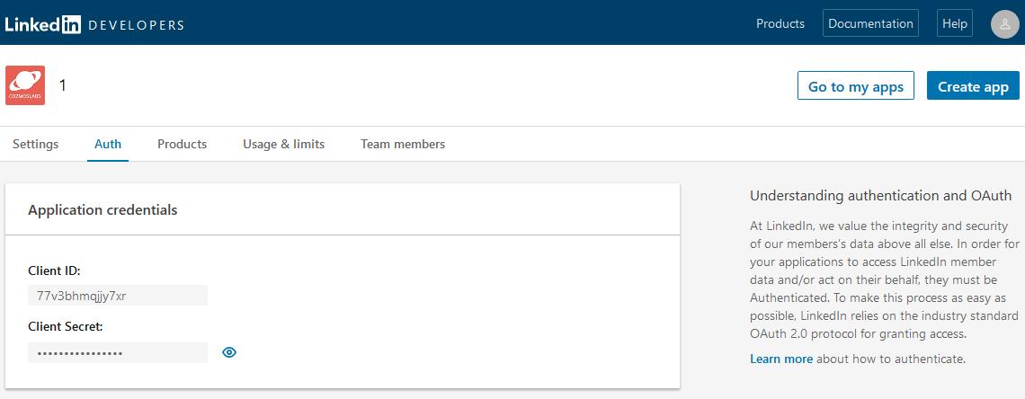 Profile Builder Pro - Social Connect - LinkedIn Apps - Credentials