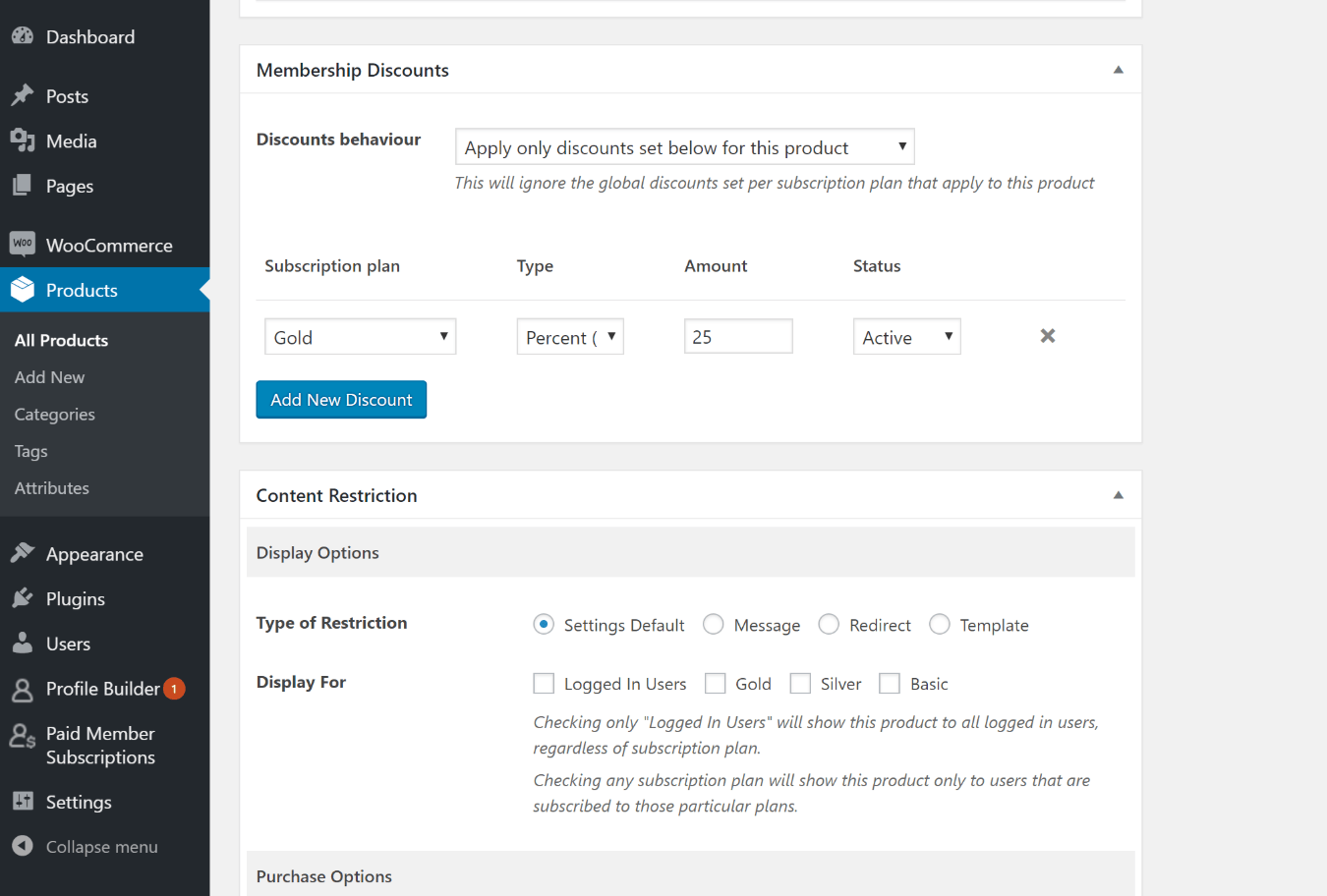 WordPress members area restrictions for WooCommerce