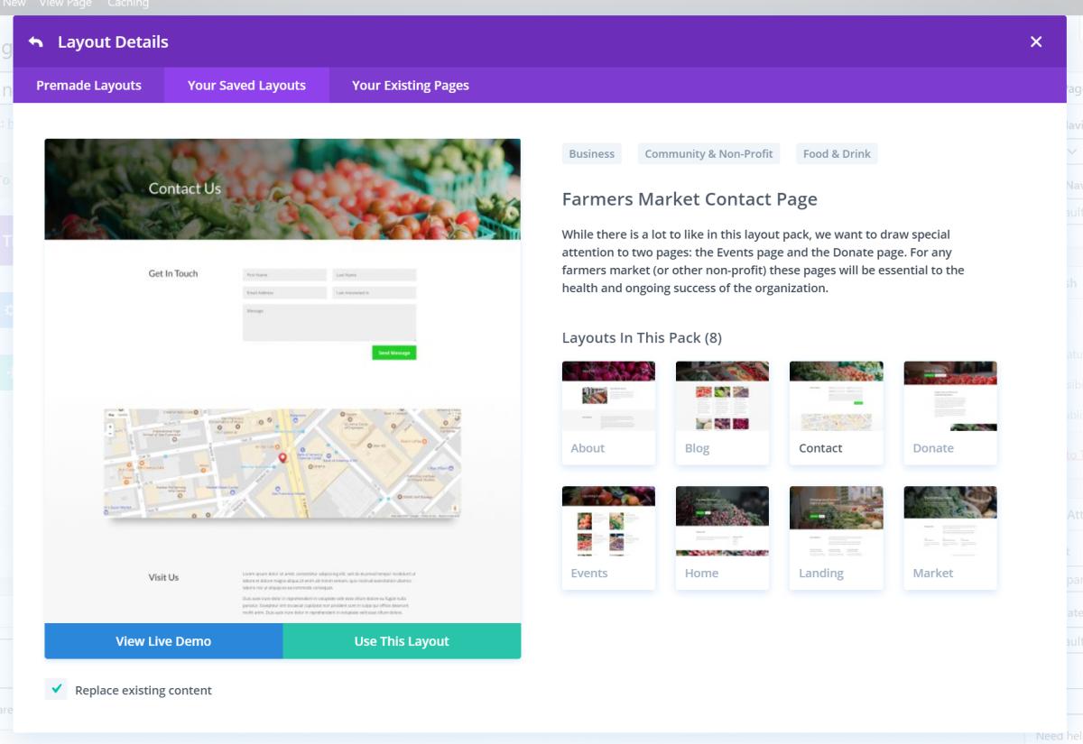 Divi membership site layout